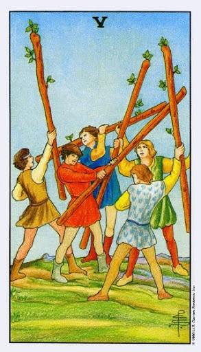Ý Nghĩa Lá Bài Five of Wands Trong Tarot