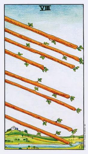Ý Nghĩa Lá Bài Eight of Wands Trong Tarot