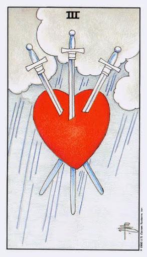 Ý Nghĩa Lá Bài Three of Swords Trong Tarot