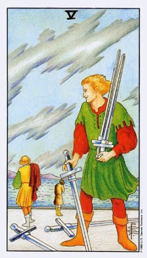 Ý Nghĩa Lá Bài Five of Swords Trong Tarot