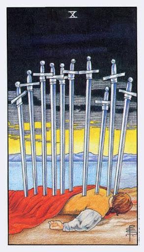 Ý Nghĩa Lá Bài Ten of Swords Trong Tarot