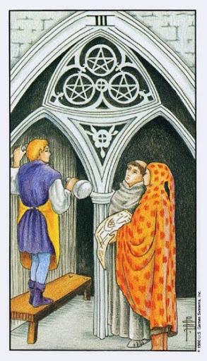 Ý Nghĩa Lá Bài Three of Pentacles Trong Tarot