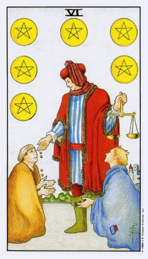 Ý Nghĩa Lá Bài Six of Pentacles Trong Tarot